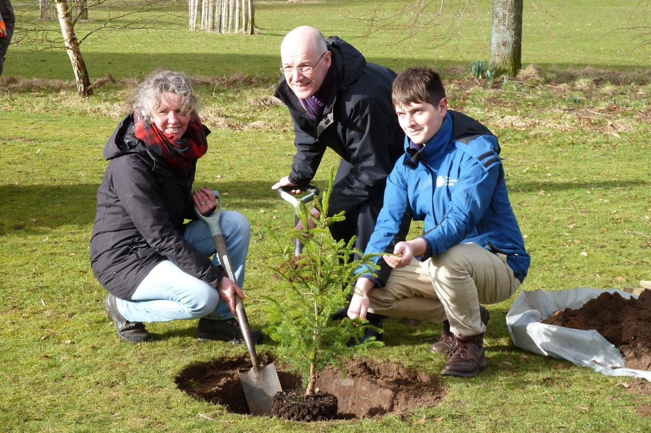 CCP tree planting in Coupar Angus