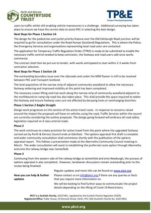 Newsletter 2 - April 2021 Bridge of Earn to Newburgh active ravel project - page 2