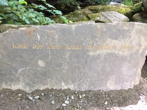 New stone carving at the Birks of Aberfeldy