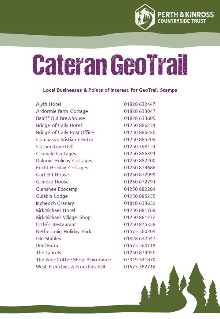Cateran GeoTrail Businesses - Passport Stamp Locations