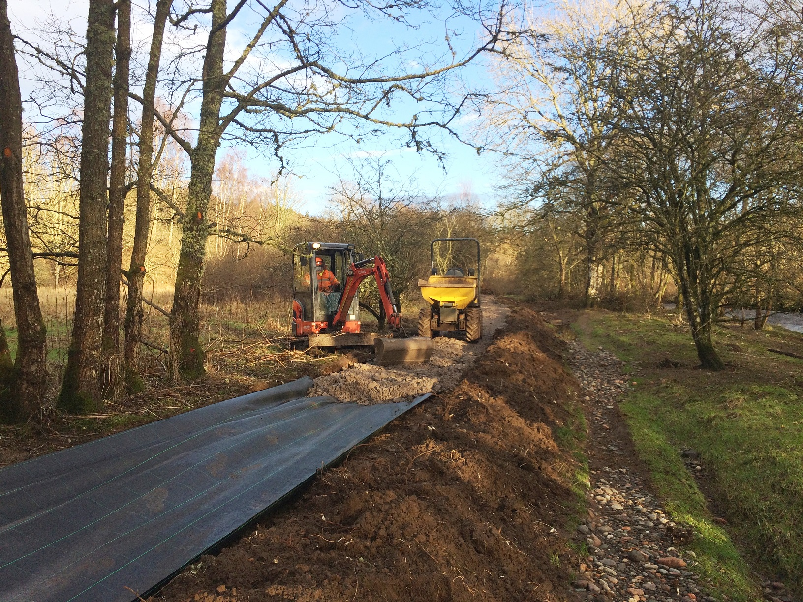 Path upgrade work at Acorn Dell, Crieff