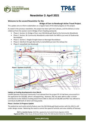 Newsletter 2 - April 2021 Bridge of Earn to Newburgh active ravel project - page 1