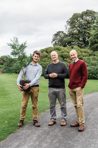 Past, Present and Future: (left to right) former NTCS & PCCP Project Officer Tom Christian, International Conifer Conservation Programme Co-ordinator Martin Gardner, and new NTCS & PCCP Project Officer Doug Flint © photos by zoe