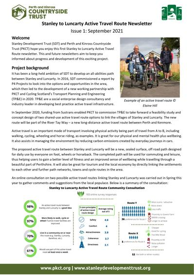 Stanley to Luncarty Active Travel Route Newsletter Edition 1 - page 1