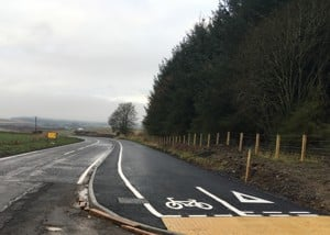 Cycling route at Five Mile Wood