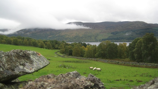 View across Loch Rannoch to Carie & Rannoch Forests