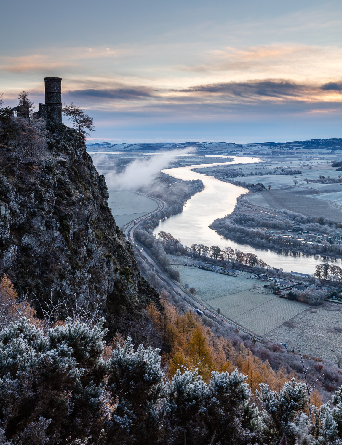 River Tay from Kinnoull Hill in winter © Mike Bell