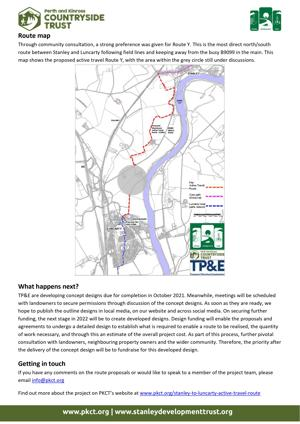 Stanley to Luncarty Active Travel Route Newsletter Edition 1 - page 2