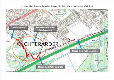 Provost Walk map of phase two works