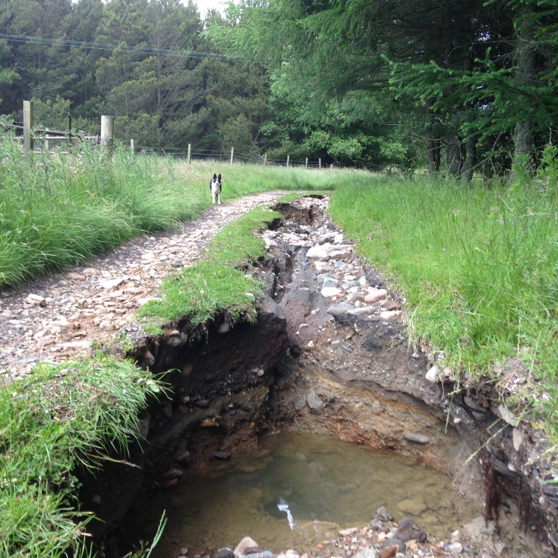 Storm damage to Cateran Trail