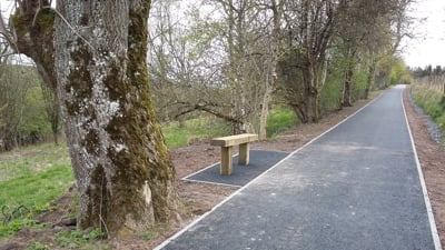 Completed Provost Walk path work in Auchterarder