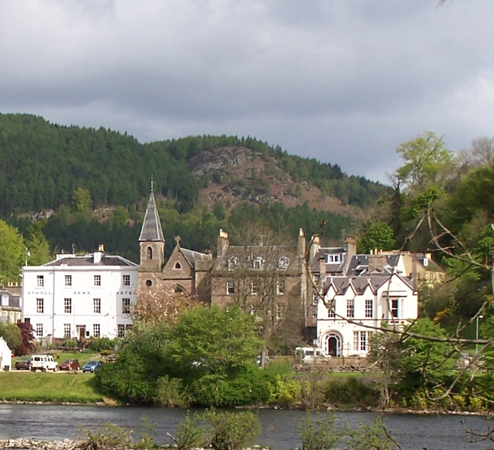 Looking across the River Tay to Dunkeld