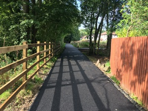 NCN 77 active travel route improvement works at Almondbank