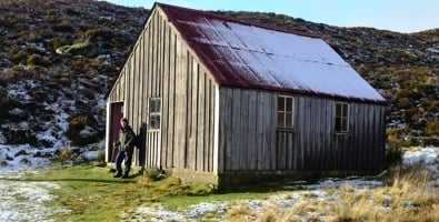 Upper Lunch Hut at Enochdhu in winter