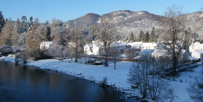 River Tay by Dunkeld in winter