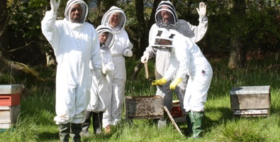 Trainee beekeepers