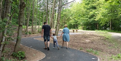 Family enjoying new Provost Walk phase 2 upgraded path