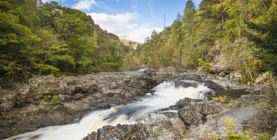 The Linn of Tummel where you can enjoy a beautiful circular woodland walk © VisitScotland / Kenny Lam, all rights reserved