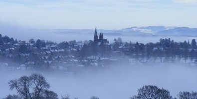 Crieff from Laggan Hill ©Blanche Haddow