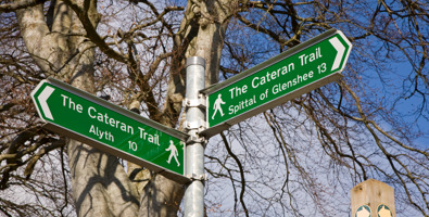Cateran Trail signpost © Mike Bell