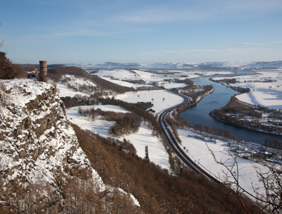 River Tay from Kinnoull Hill in winter