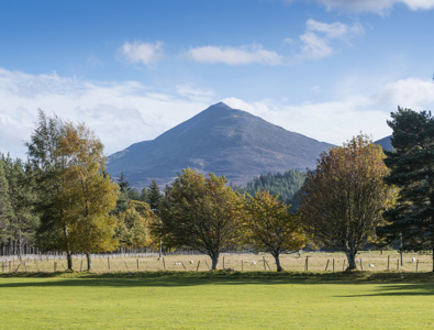 Schiehallion seen from Kinloch Rannoch © VisitScotland / Kenny Lam, all rights reserved.
