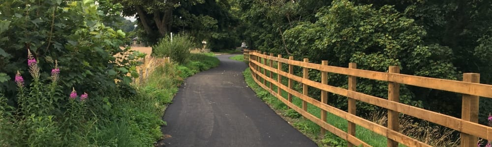 NCN 77 improvement works at Almondbank nearly finished