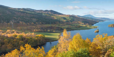 The Queens View in Highland Perthshire which overlooks Loch Tummel ©VisitScotland/Kenny Lam