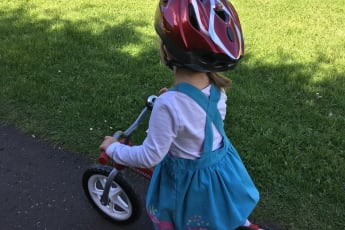 Active travel balance bike spring