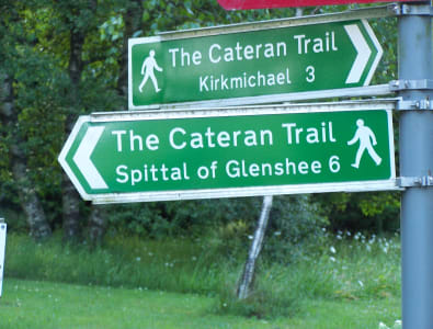 Kirkmichael and Glenshee finger posts ©PKCT