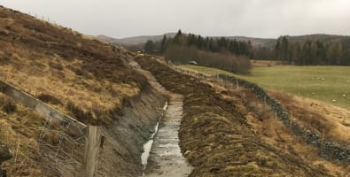 Path improvement works at Pitcarmick on the Cateran Trail