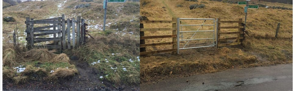 New gates on the Cateran Trail