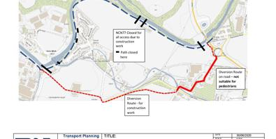 £250,000 upgrade works on NCN 77 at Almondbank begin
